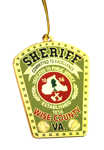 Sheriff Custom Christmas Ornament
