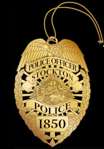 Police Eagle Badge Ornament