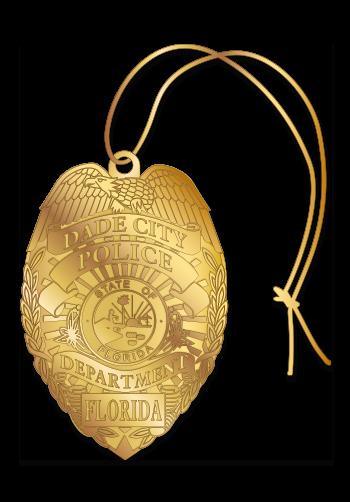Laser Cut Badge Ornament