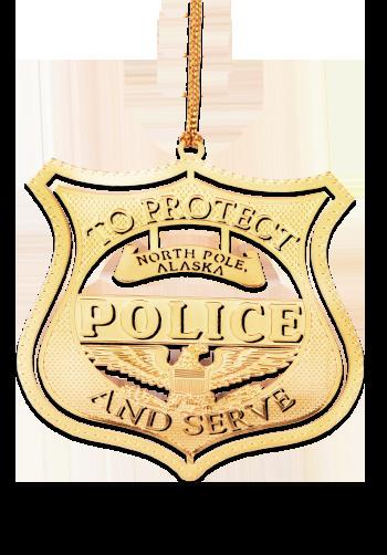 Laser Cut Police Ornament